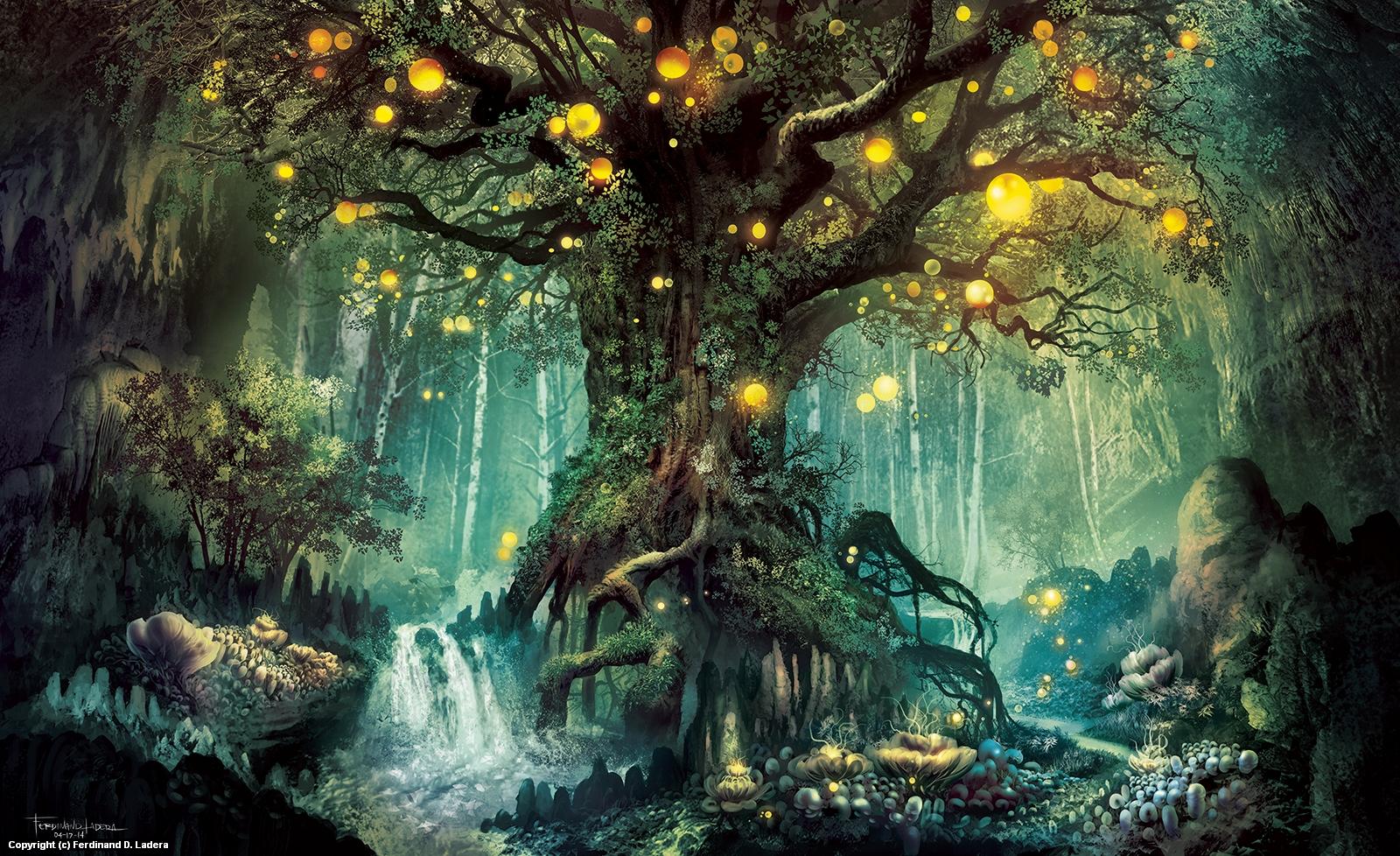 Dimlight Forest Artwork by Ferdinand Ladera