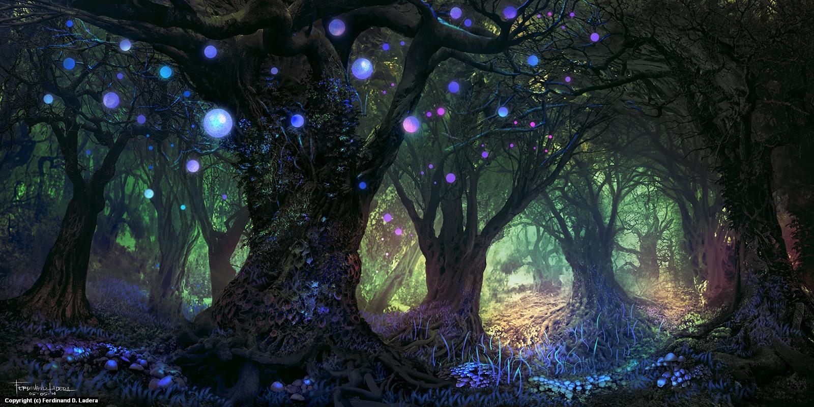 Forest Wisp Artwork by Ferdinand Ladera