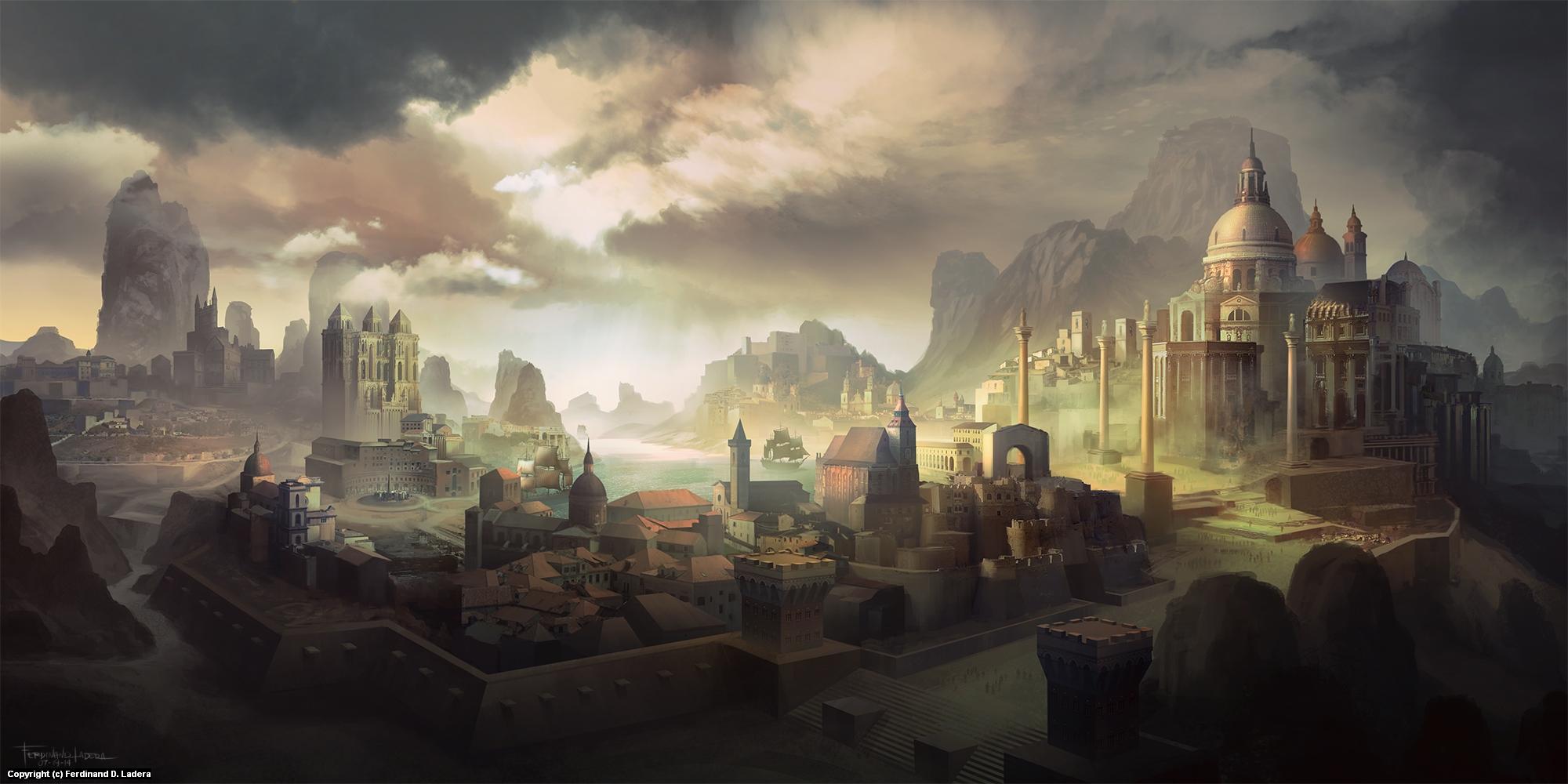 The City of Swynston Artwork by Ferdinand Ladera