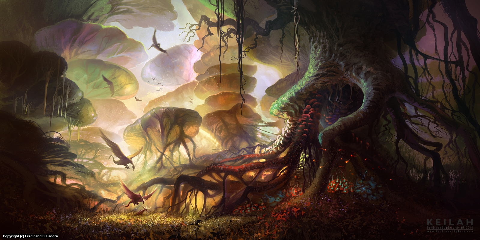The forest of Keilah Artwork by Ferdinand Ladera