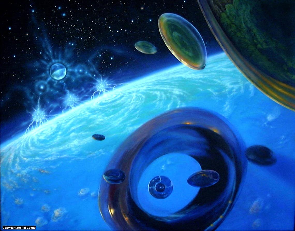 Eon's Web: Orbital Encounter Artwork by Pat morrissey-Lewis