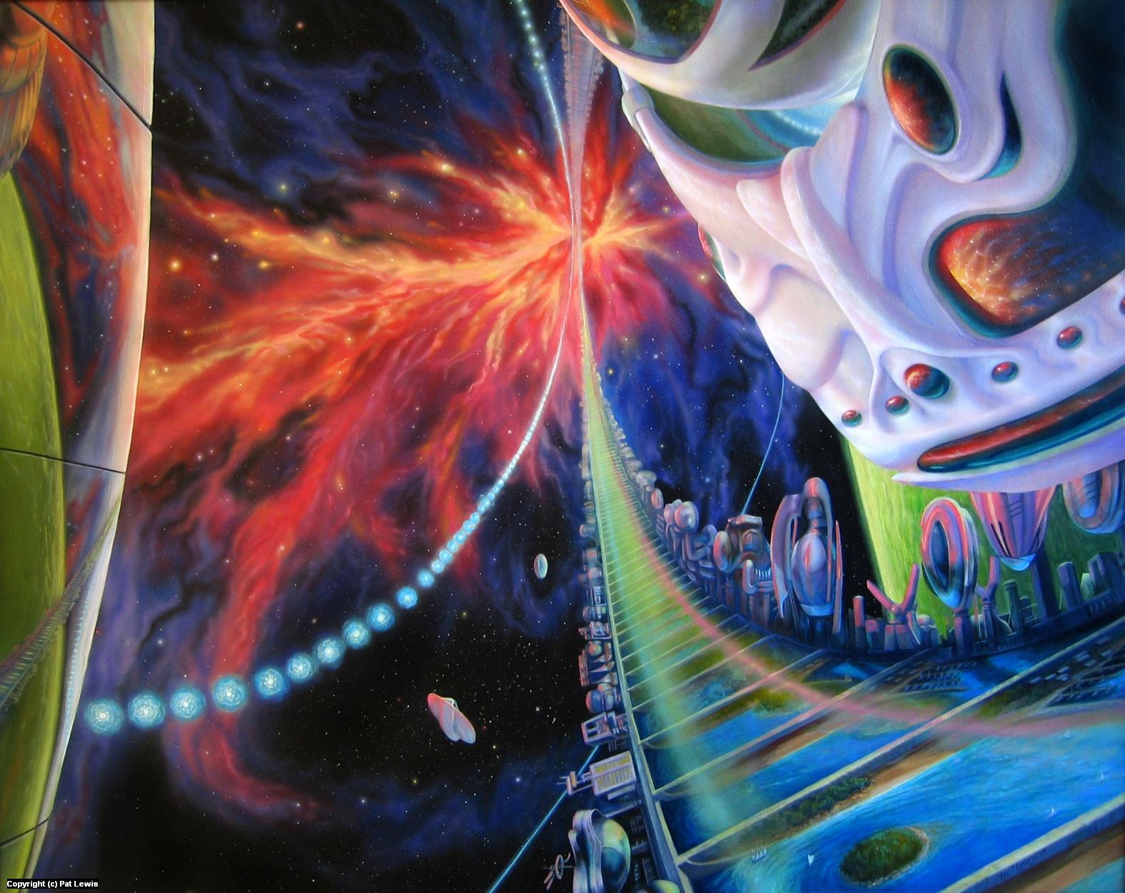 Eon's Web: Tau Ceti Resort Artwork by Pat morrissey-Lewis