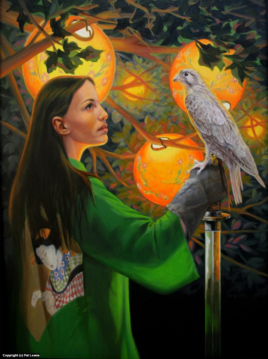 White Hawk Artwork by Pat morrissey-Lewis