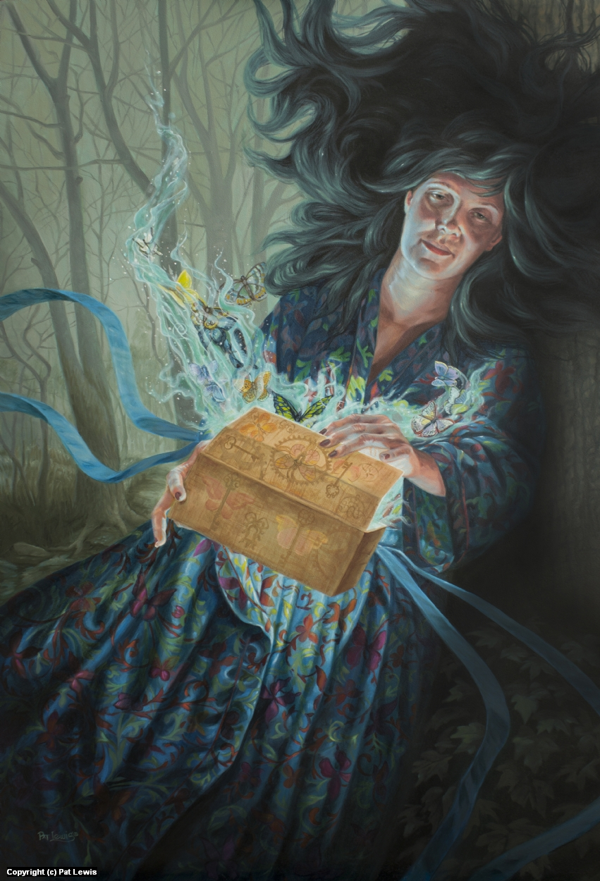 Pandora's Butterfly Box Artwork by Pat morrissey-Lewis