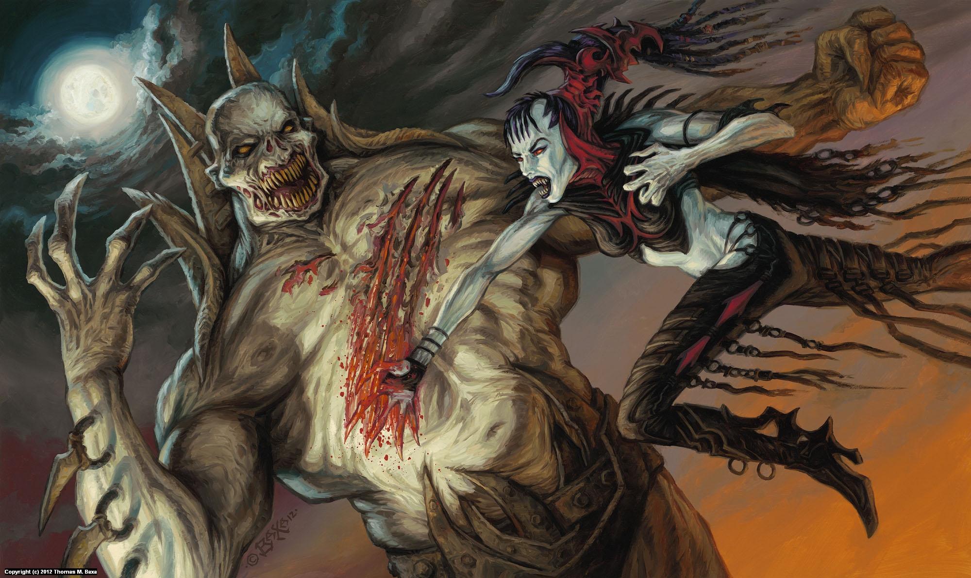 Nosferatu vs. Zombie Lord Artwork by Thomas Baxa