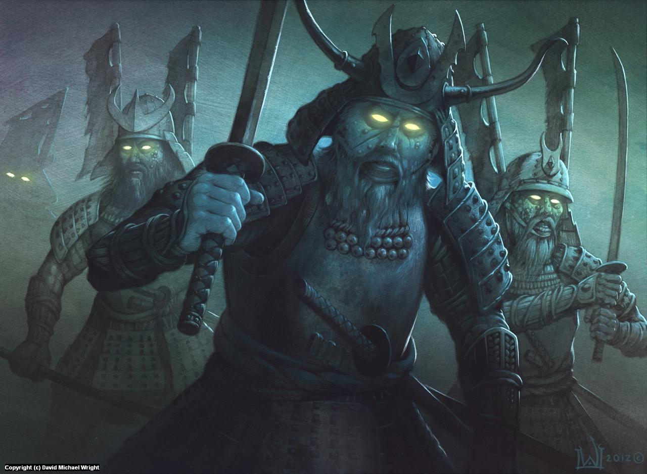 Evil Samurai Artwork by David Michael Wright