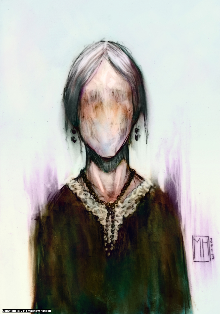 Faceless Old Woman Artwork by Matthew Hansen