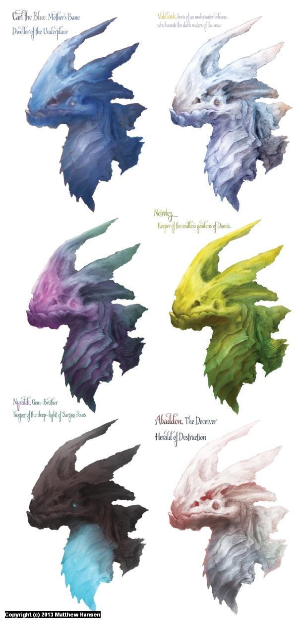 Dragon Color Comps Artwork by Matthew Hansen