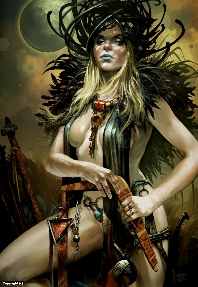 The Pirate Queen of Usarnakurdu  Artwork by Tomasz  Jedruszek