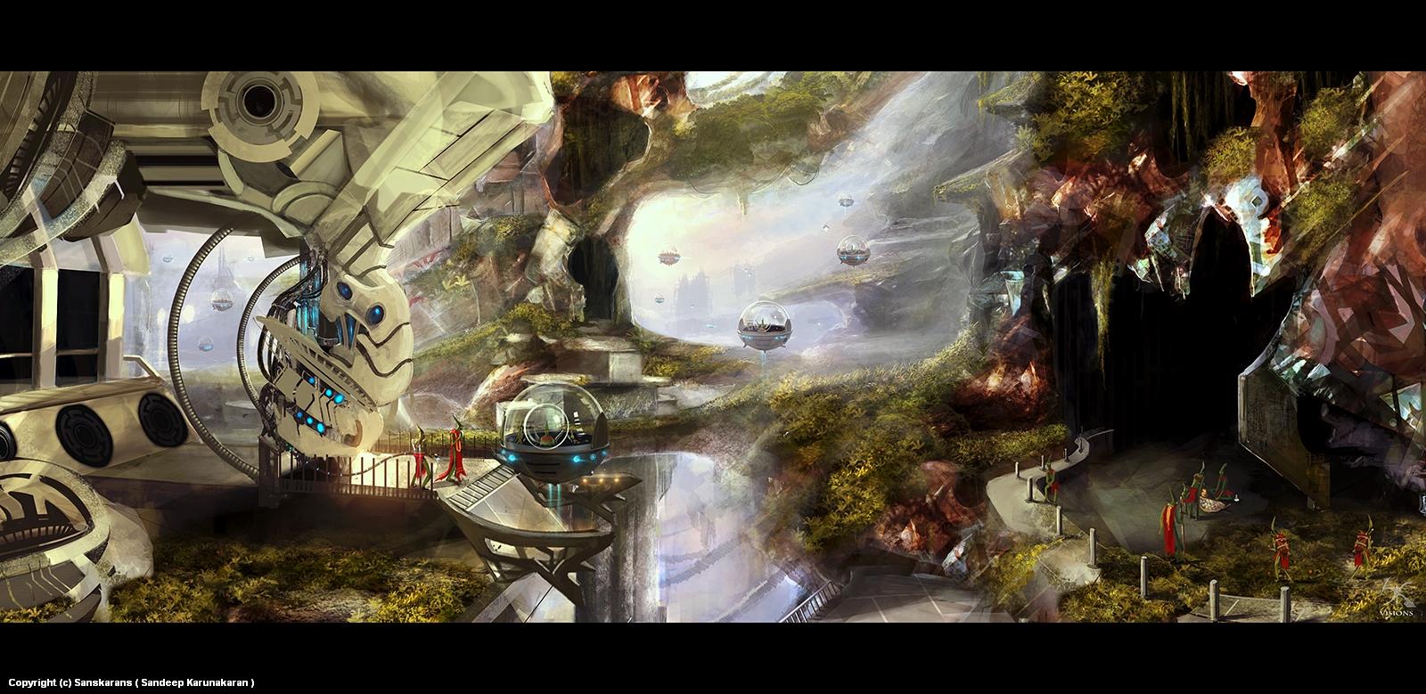 Alien World Artwork by Sandeep Karunakaran