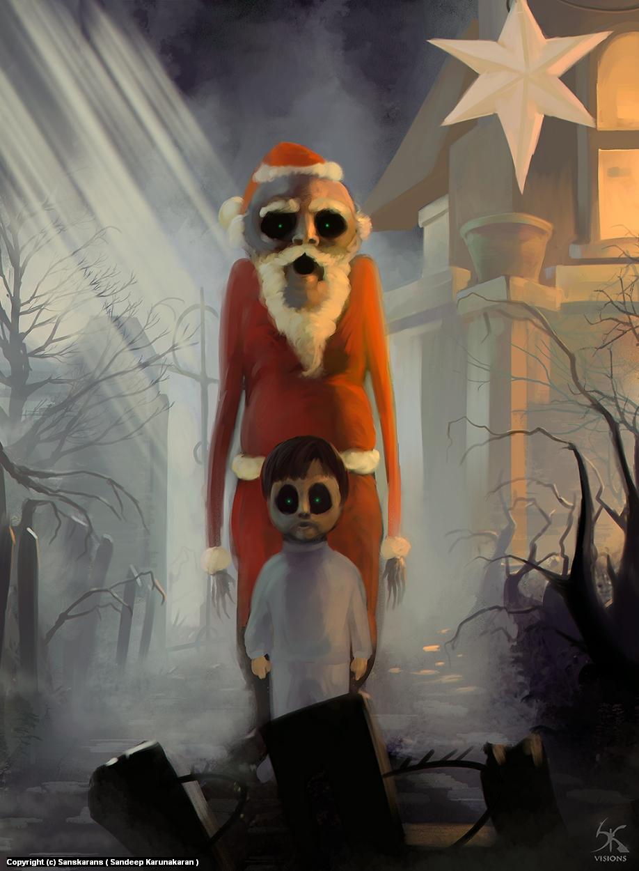 Nightmare Santa Artwork by Sandeep Karunakaran
