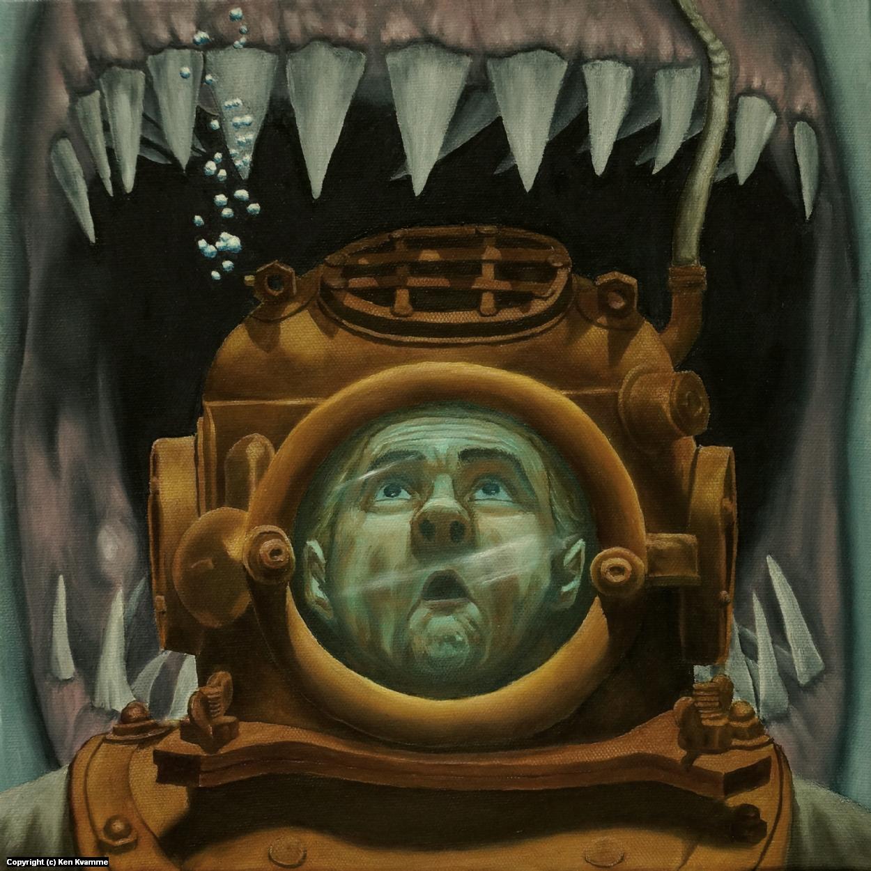 Diver Artwork by Ken Kvamme