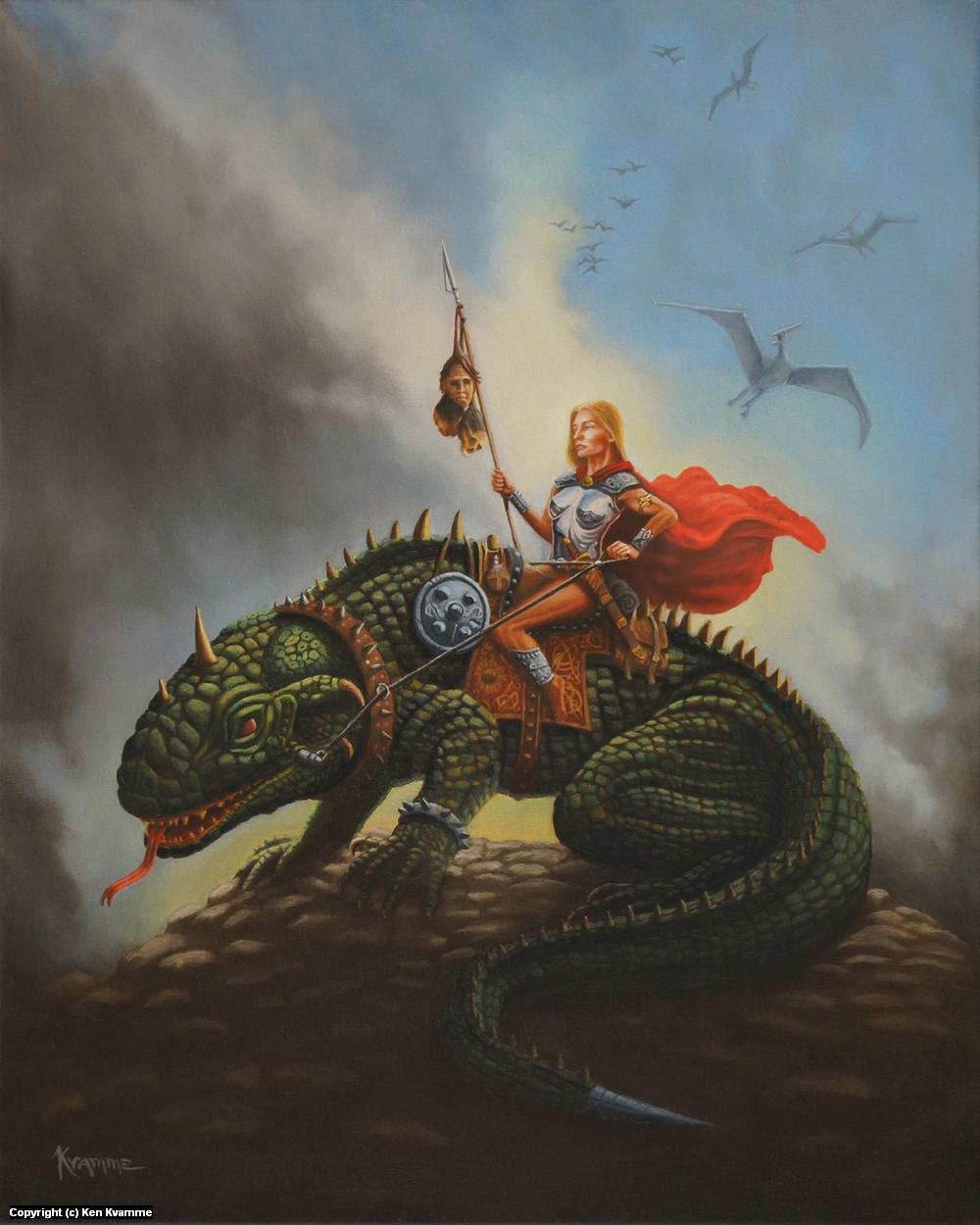 The Dragon Rider Artwork by Ken Kvamme