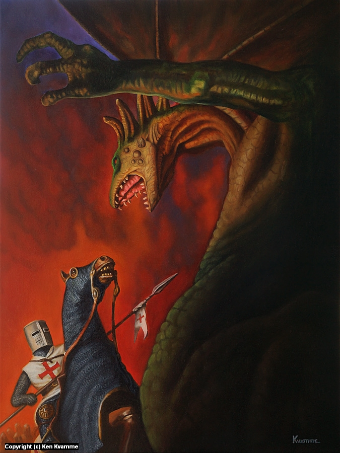 St. George and the Dragon Artwork by Ken Kvamme
