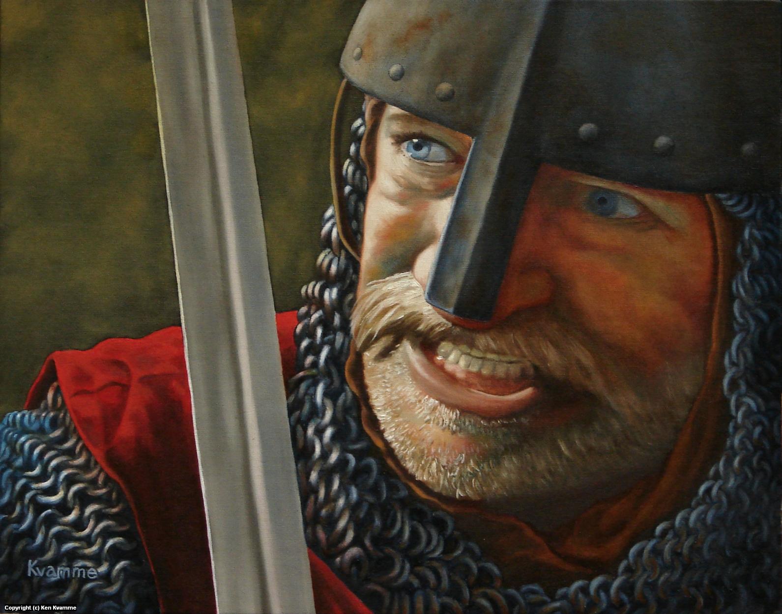 Knight Defender Artwork by Ken Kvamme