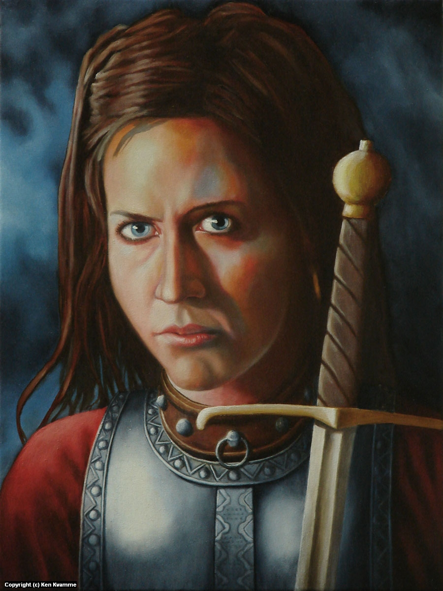 Warrior Maiden Artwork by Ken Kvamme