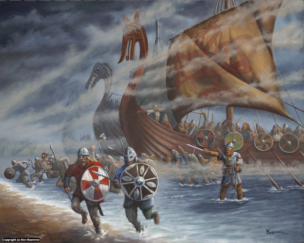Vikings Ashore! Artwork by Ken Kvamme