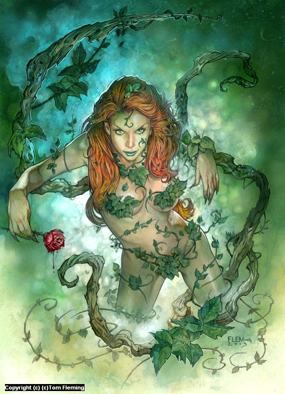 Poison Ivy Artwork by Tom Fleming