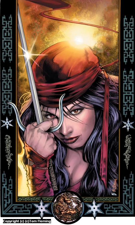 Elektra-cover issue #31 Artwork by Tom Fleming