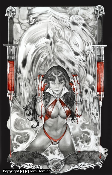 Vampirella Artwork by Tom Fleming