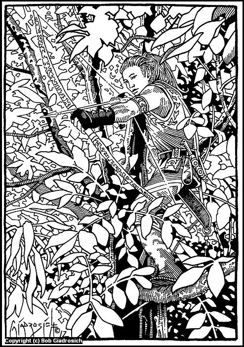 Elven Ranger Artwork by Bob Giadrosich