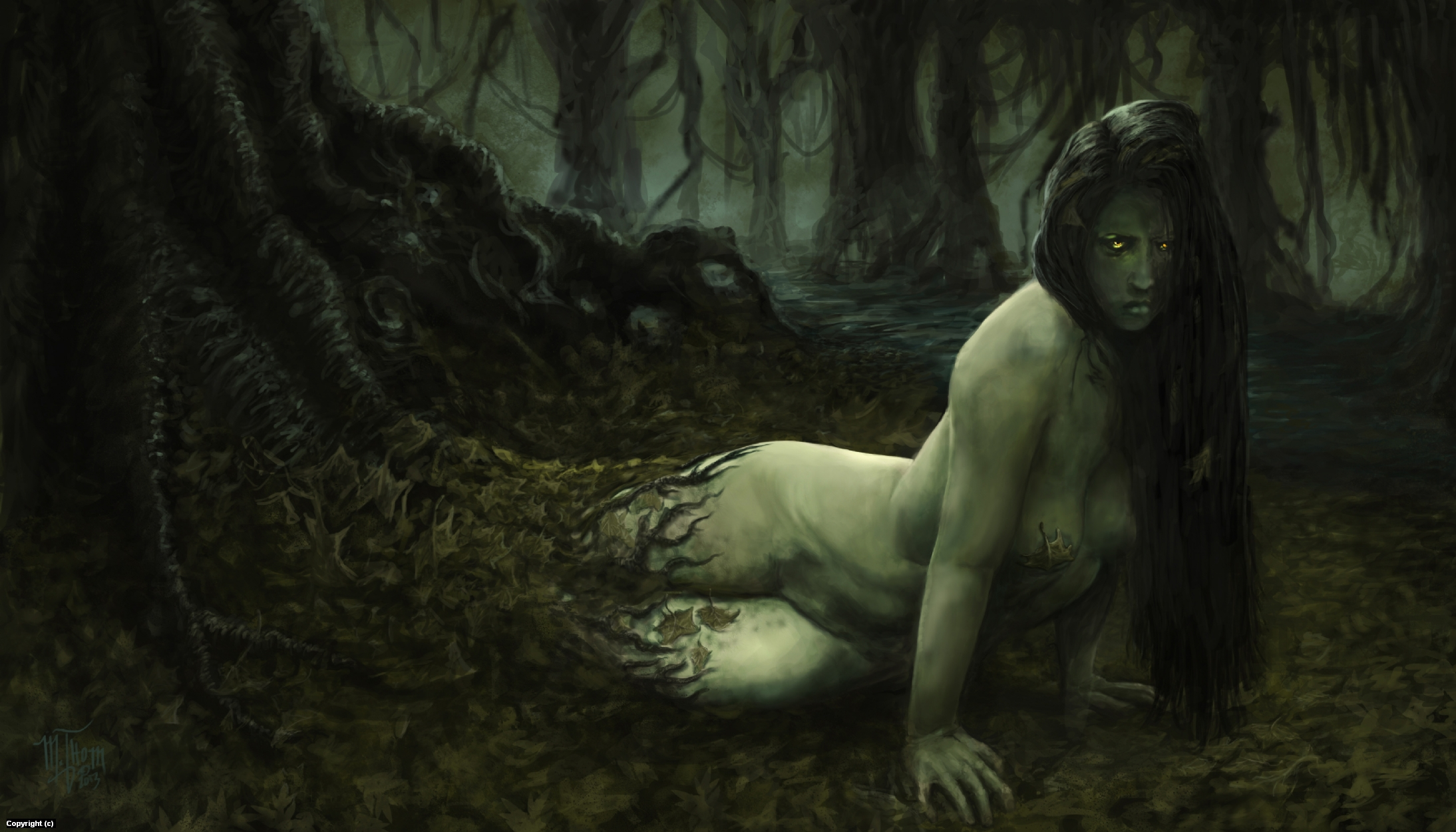 Swamp Nymph Artwork by Michael Thom