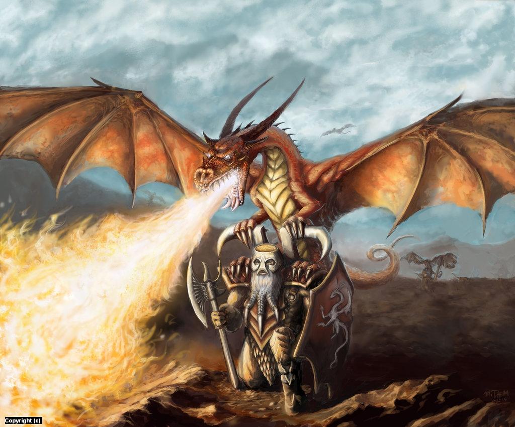 Dwarf Dragon Artwork by Michael Thom