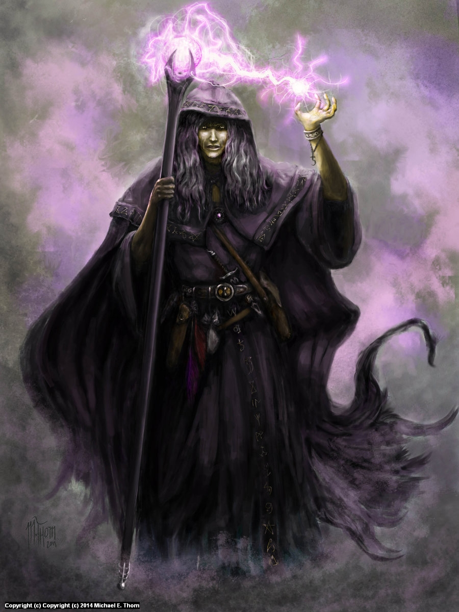 Raisltin in the Black Robes Artwork by Michael Thom