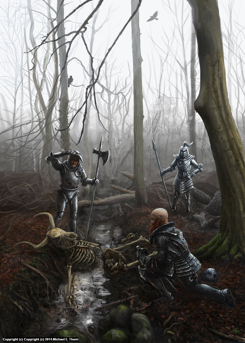 Discovery in the Mud Artwork by Michael Thom