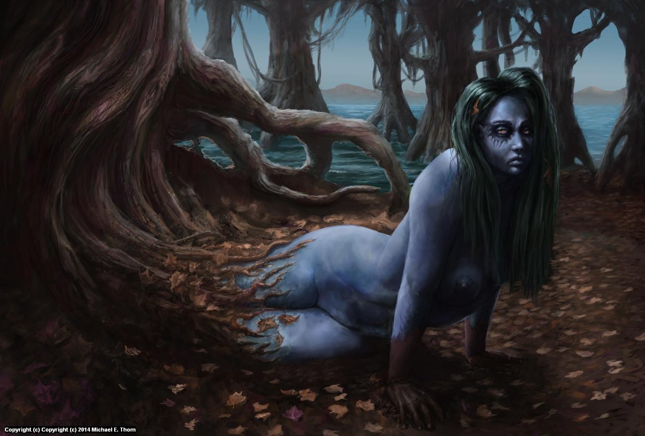 Swamp Tree Nymph  Artwork by Michael Thom