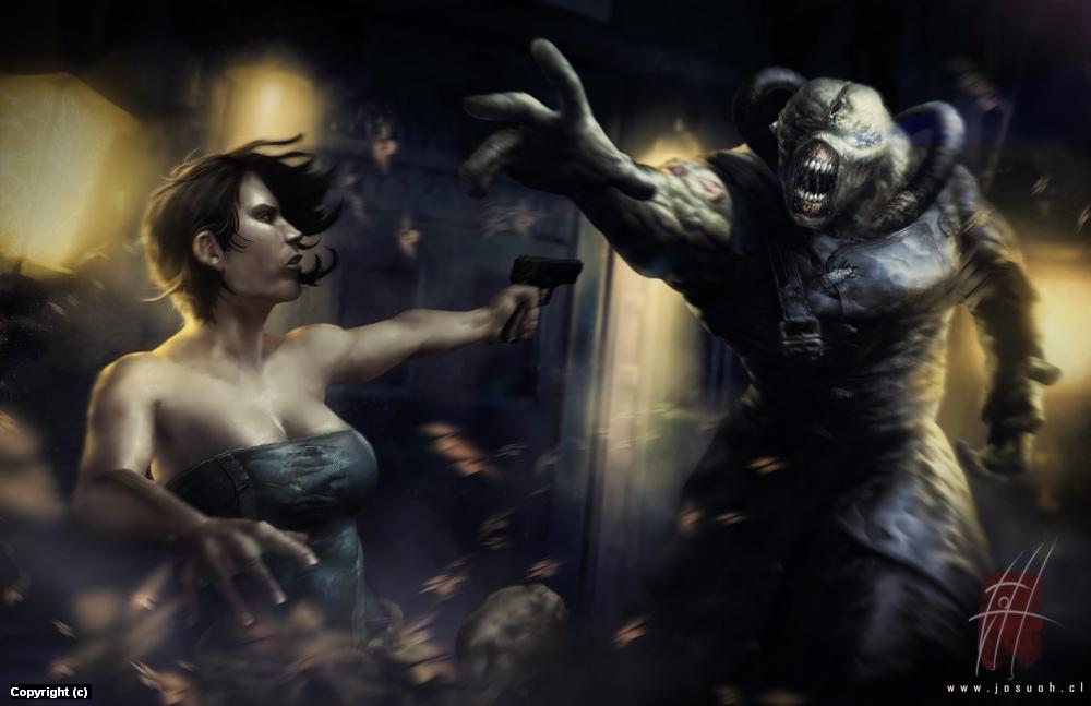 RE3 - Nemesis <3 Jill Artwork by Josu Hernaiz