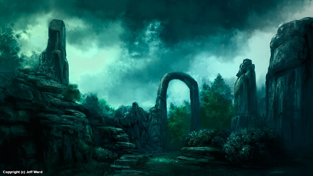 Arch of the Ancients Artwork by Jeff Ward