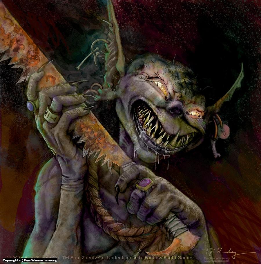 Goblin Lurker Artwork by Piya Wannachaiwong