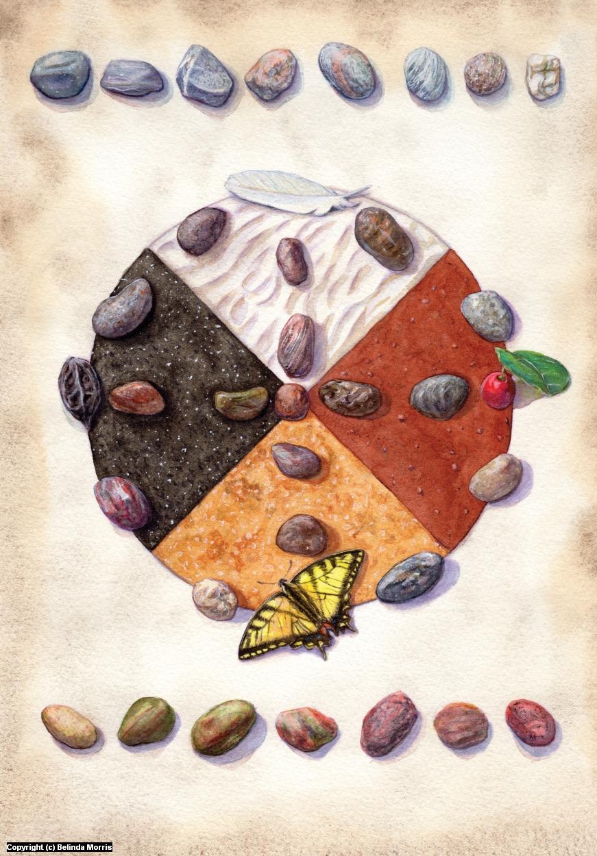 Medicine Wheel Artwork by Belinda Morris