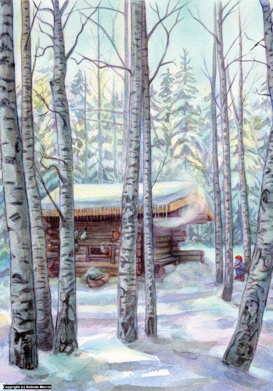 A Finnish Sauna House Artwork by Belinda Morris