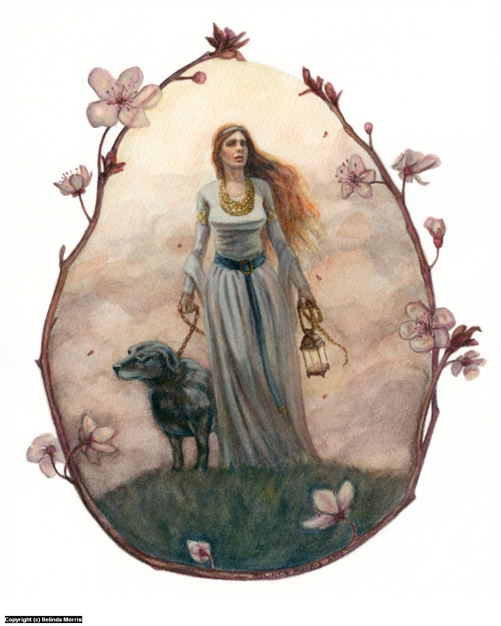 Mistress of the Black Dog Artwork by Belinda Morris