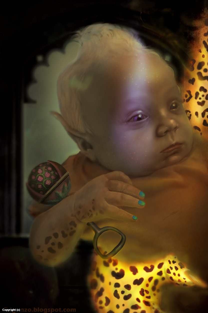Elf Baby Artwork by Edward Gonzalez