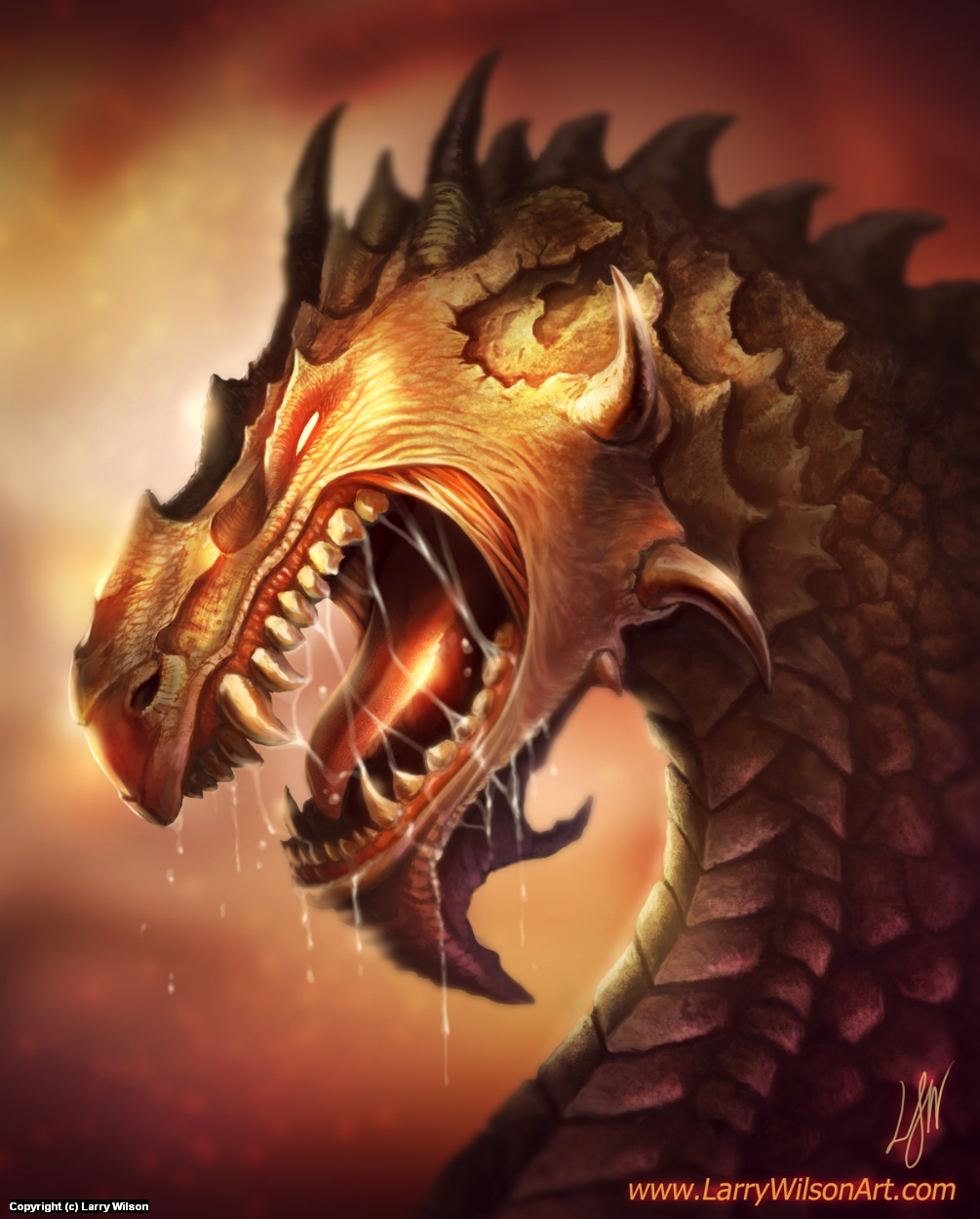 Dragon Lords - Sajax The Insane Artwork by Larry wilson