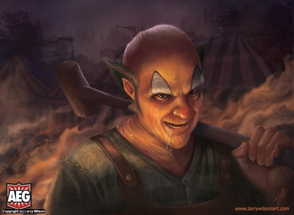 Doomtown - The Clown Artwork by Larry wilson