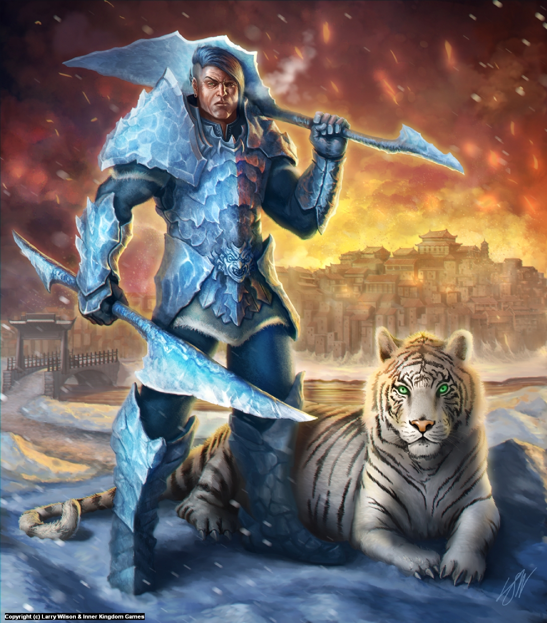 Captain of the Guard - The Frozen Throne Artwork by Larry wilson