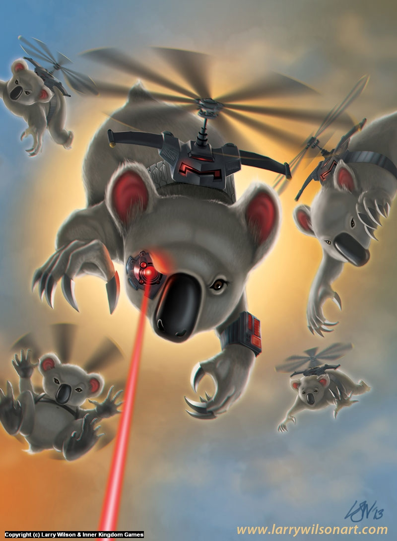 Koala Kommandos Artwork by Larry wilson