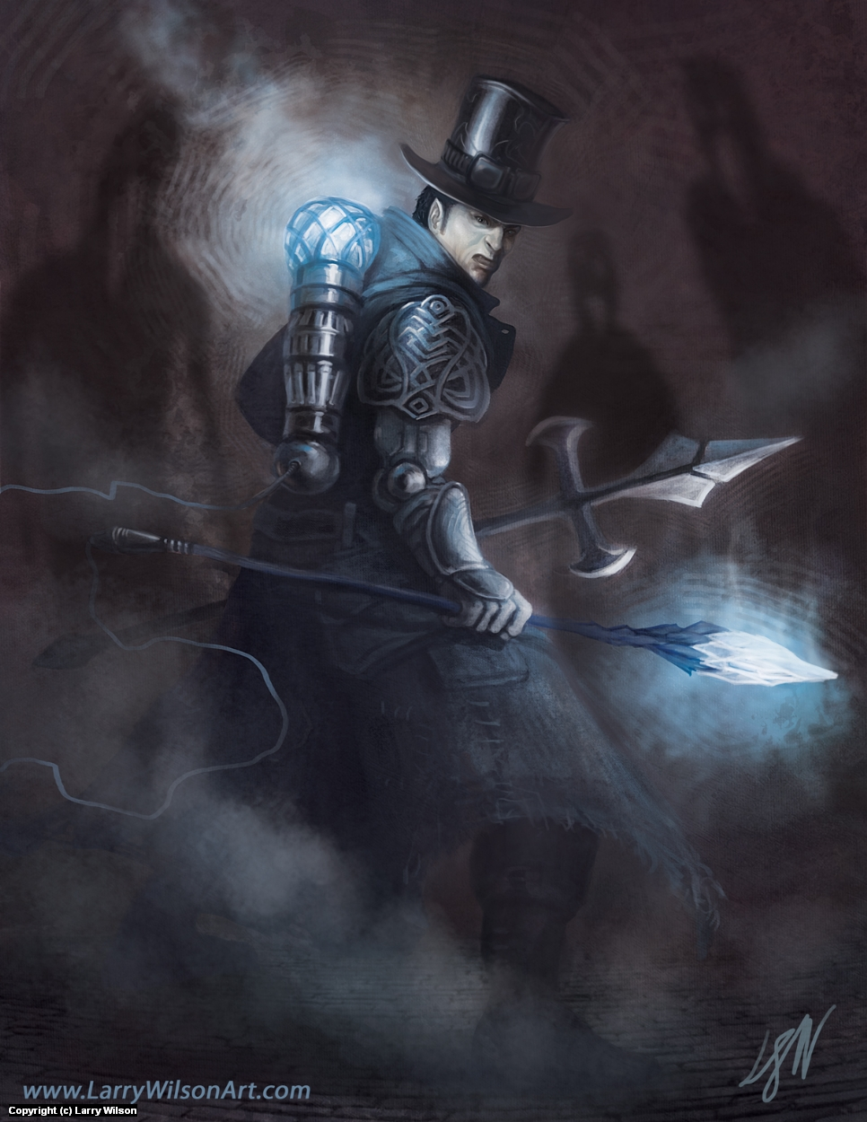 SteamPunk Vampire Hunter Artwork by Larry wilson