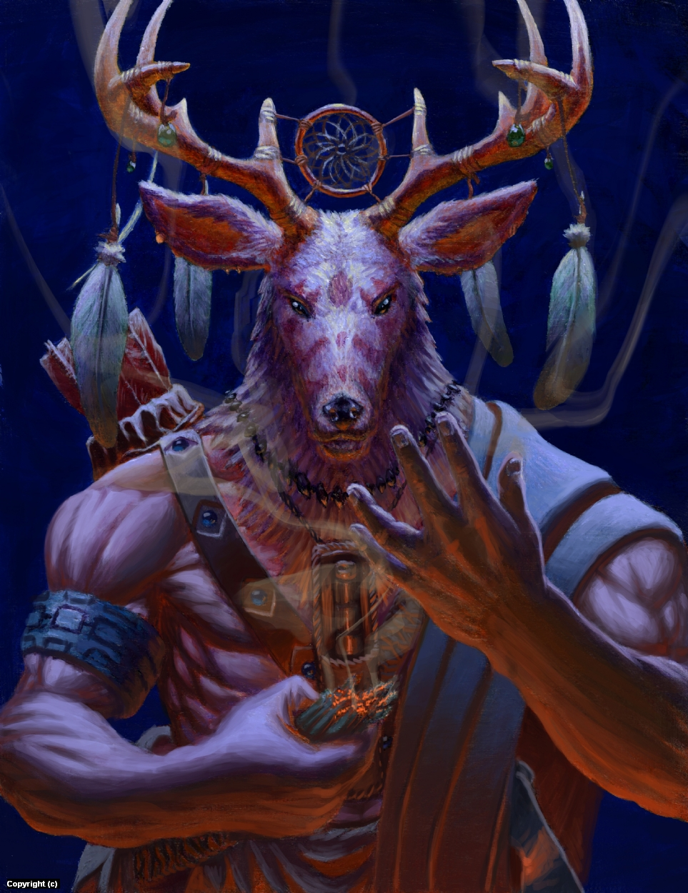 Stag Shaman Artwork by Joshua Dahle