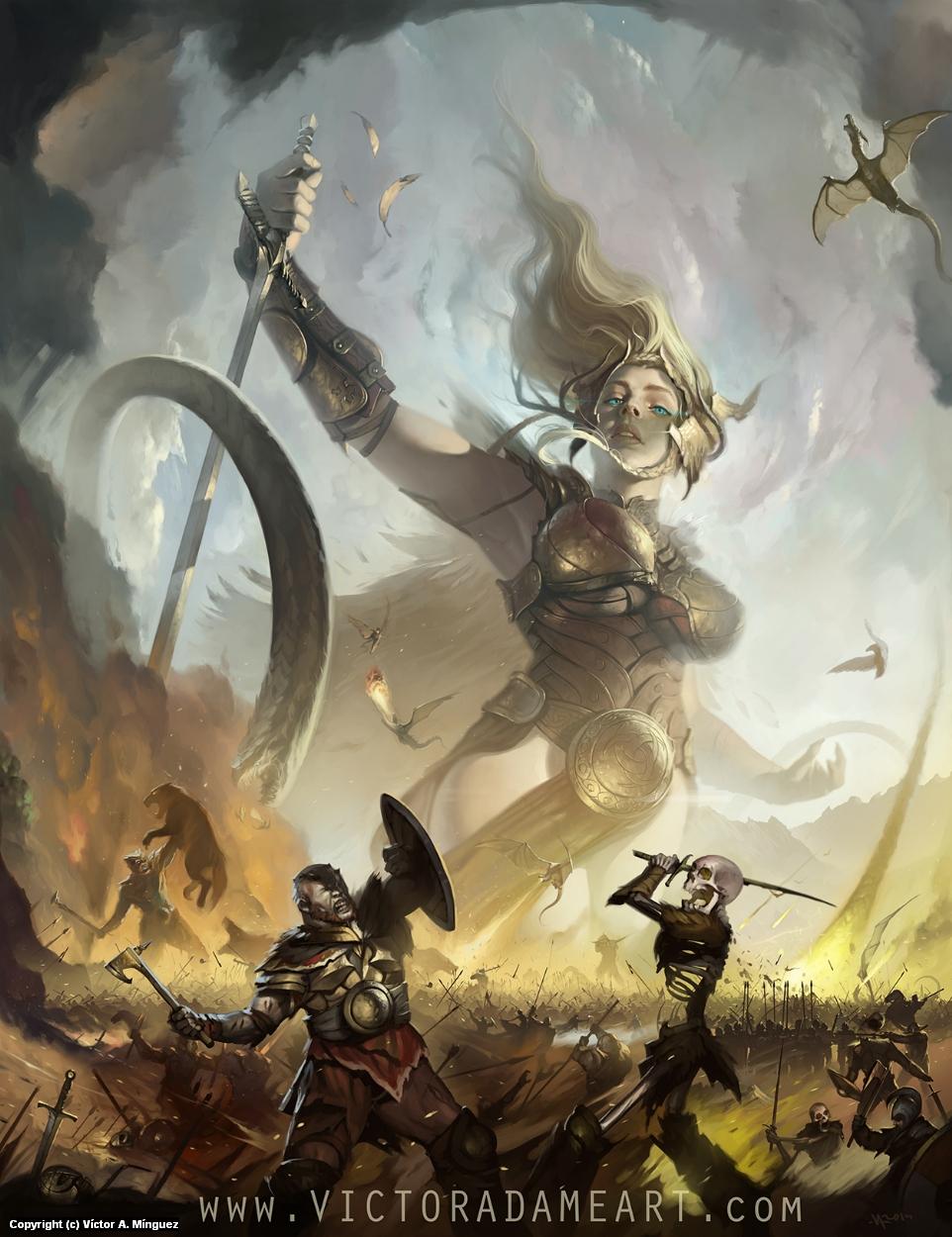 Avatar of War Artwork by Victor Adame
