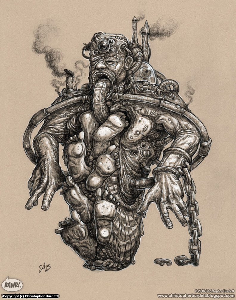 Footman Artwork by Christopher Burdett