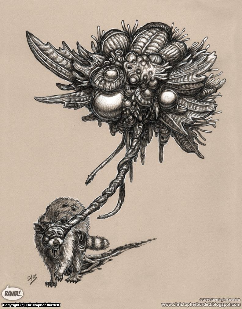 Zombic Spore Artwork by Christopher Burdett