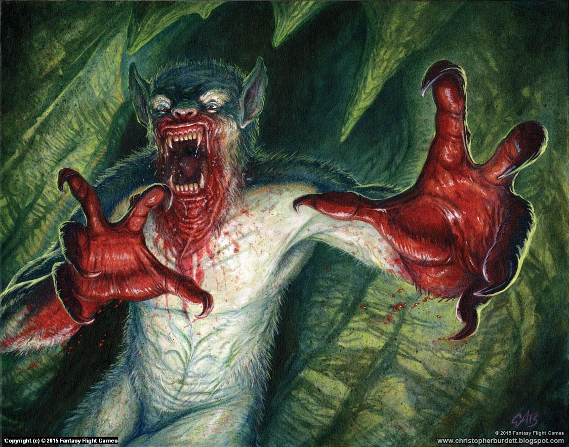 Frenzied Ghoul Artwork by Christopher Burdett