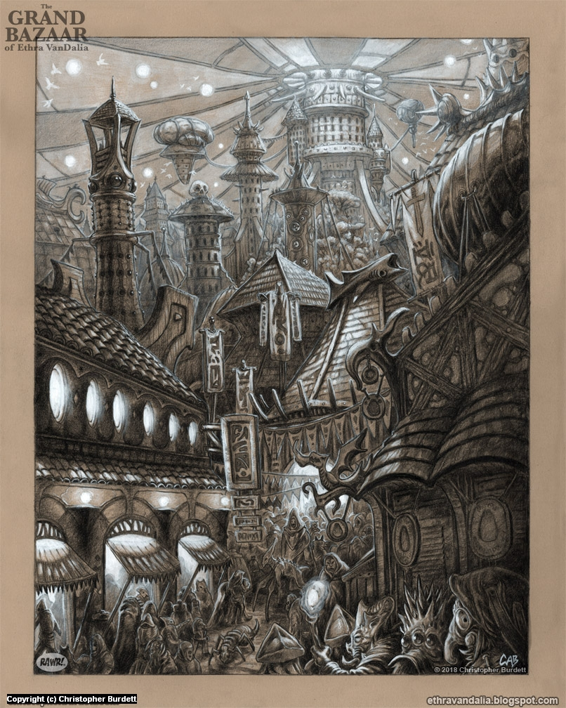 The Grand Bazaar Artwork by Christopher Burdett