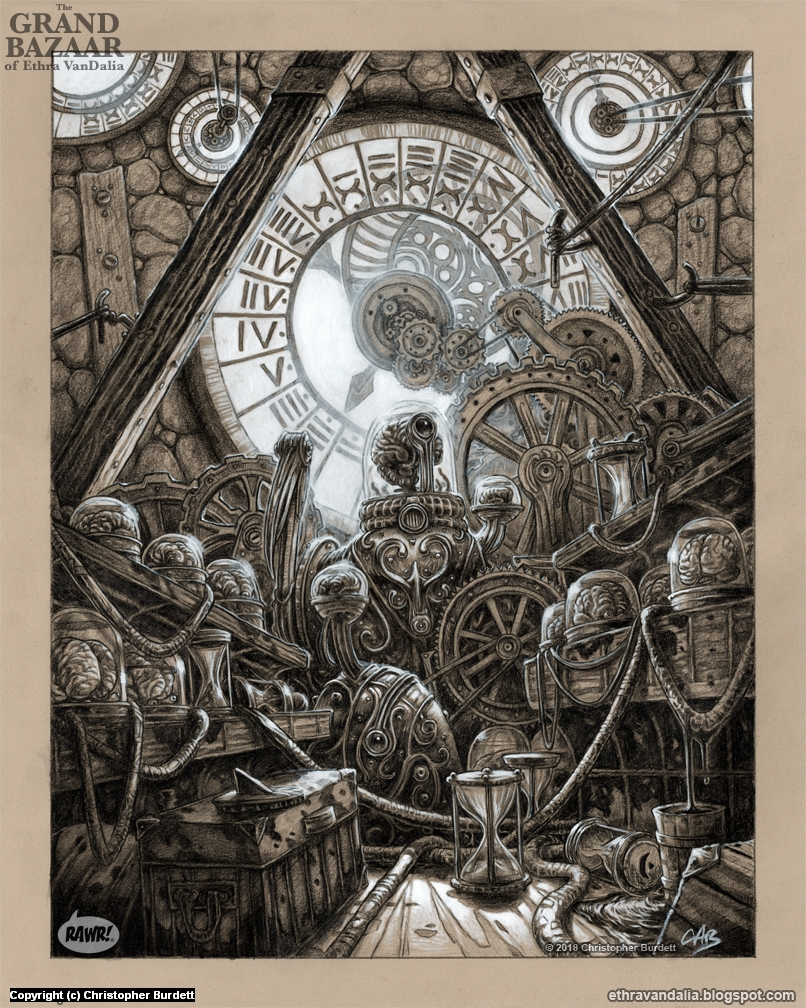 Keeper of the Clocks Artwork by Christopher Burdett