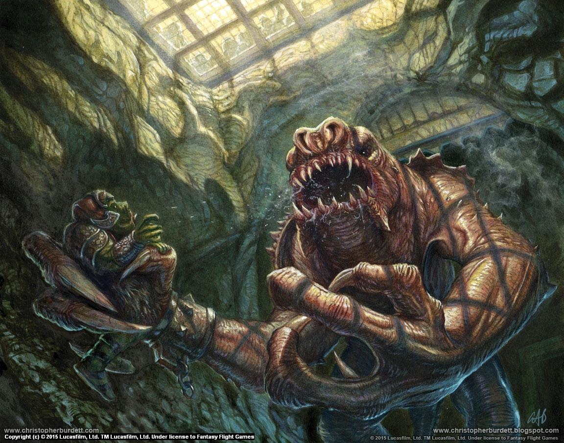 Jabba's Rancor Artwork by Christopher Burdett